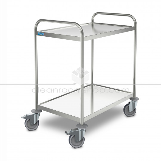 Stainless Steel 2 Tier Transport Trolley