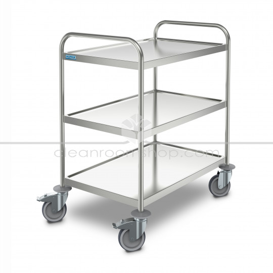 Stainless Steel 3 Tier Transport Trolley