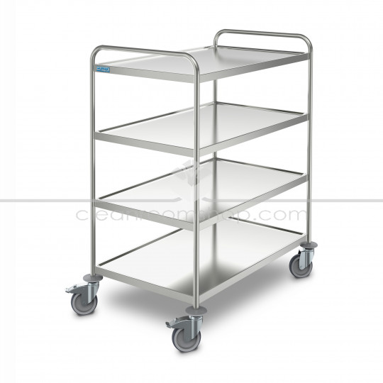 Stainless Steel 4 Tier Transport Trolley