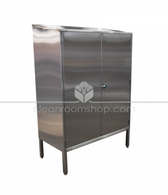 Stainless Steel Garment Cupboard with Rail