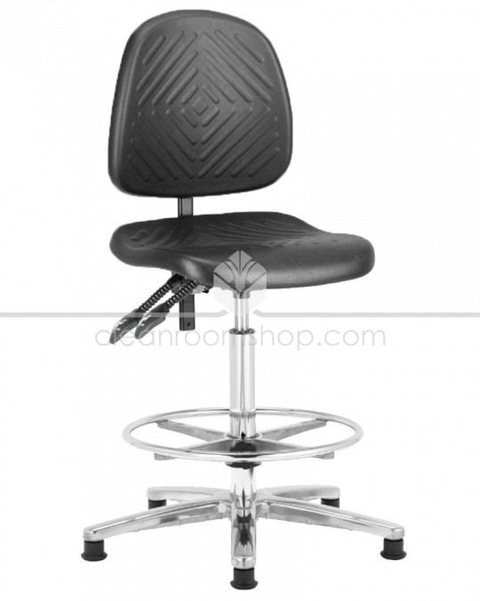 Deluxe High PU Cleanroom Chair