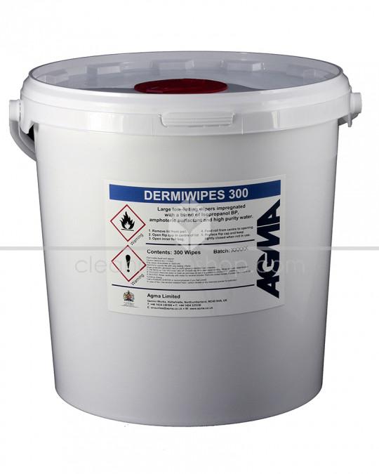 Agma Dermi Wipes 70% IPA Bucket of 300 wipes