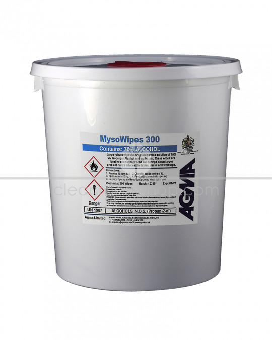 Agma MysoWipes 70% IPA -  Bucket of 300 wipes