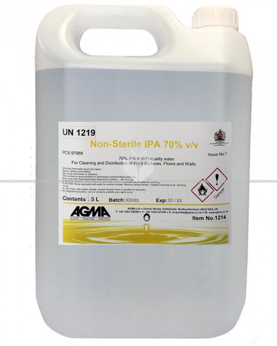 Agma Non-sterile 70% IPA in WFI 4 x 5L