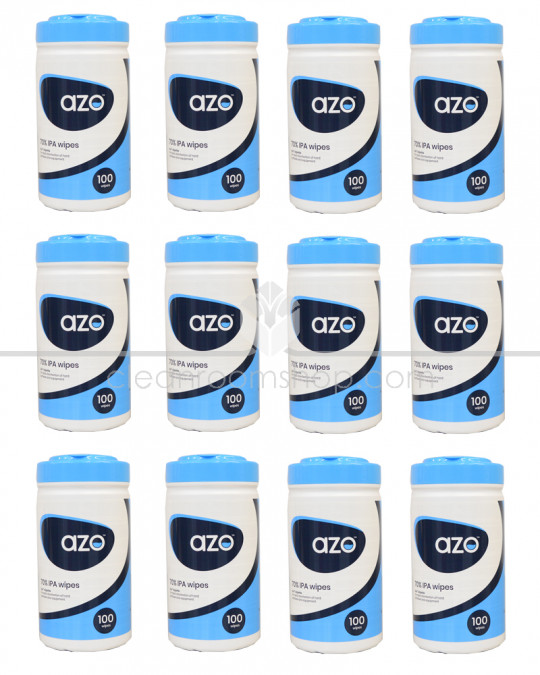 Azowipette™ Hard Surface Disinfectant 100 Canister - Case 12