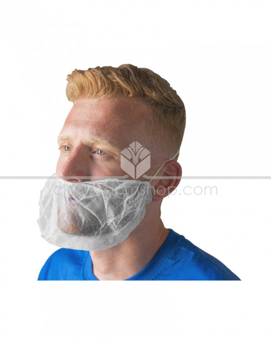 Beard Snood - White -  Case of 1000
