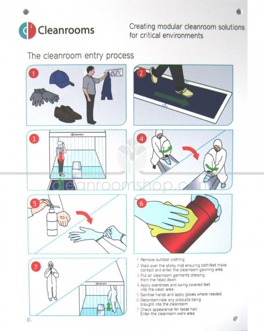 Cleanroom Entry Procedure Sign