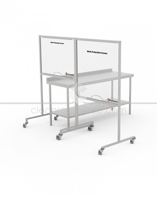 Free Standing Work Protection Screen - Clear Panel