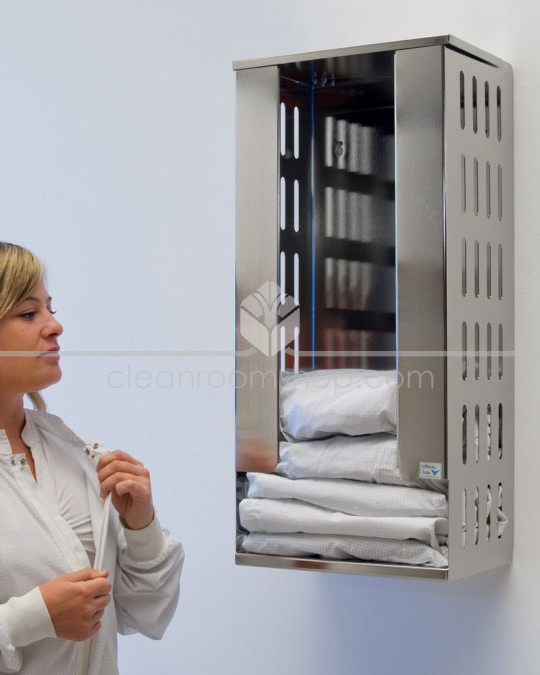Electropolished Stainless Steel Cleanroom Folded Gown Dispenser
