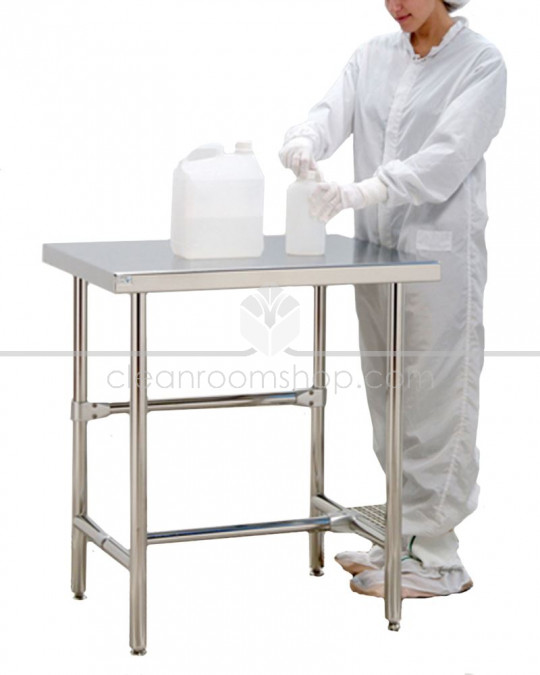 Electropolished S/S Cleanroom Table (Solid) 1200x760mm