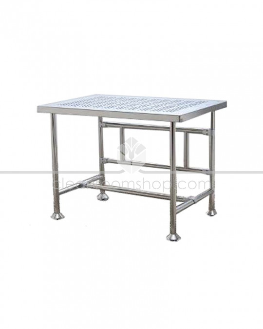 Electropolished S/S Cleanroom Table (Perforated) 1200x760mm