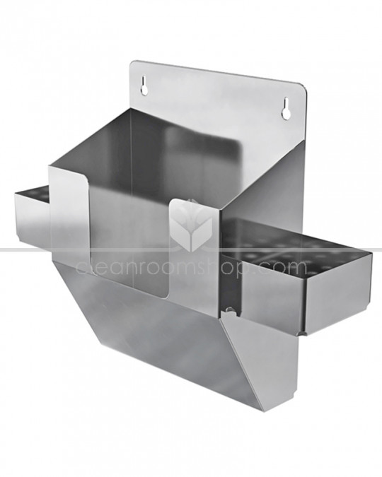 Electropolished Stainless Steel Wipes & Bottle Holder