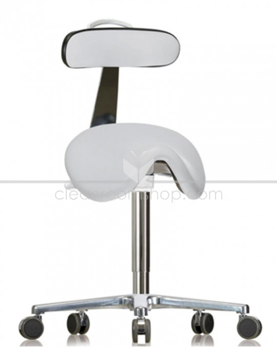GMP Saddle Seat with Backrest on Castors