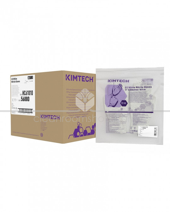 KIMTECH * G3 White Nitrile Gloves - 30 cm