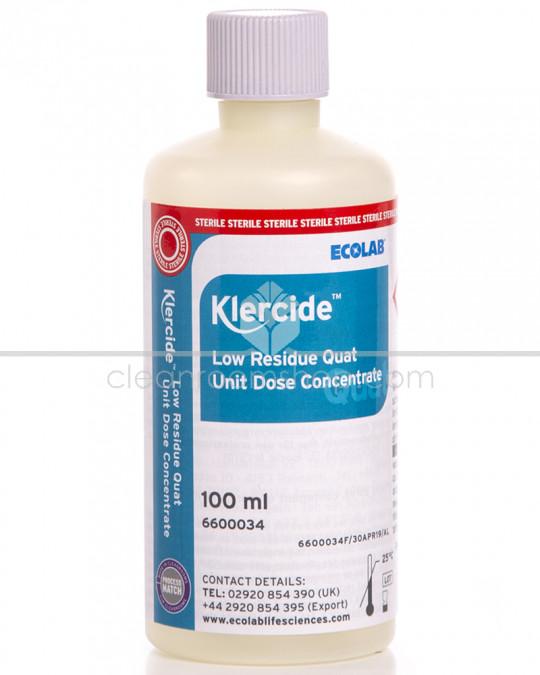 Klercide Low Residue Quat Unit Dose Concentrate 50x100ml