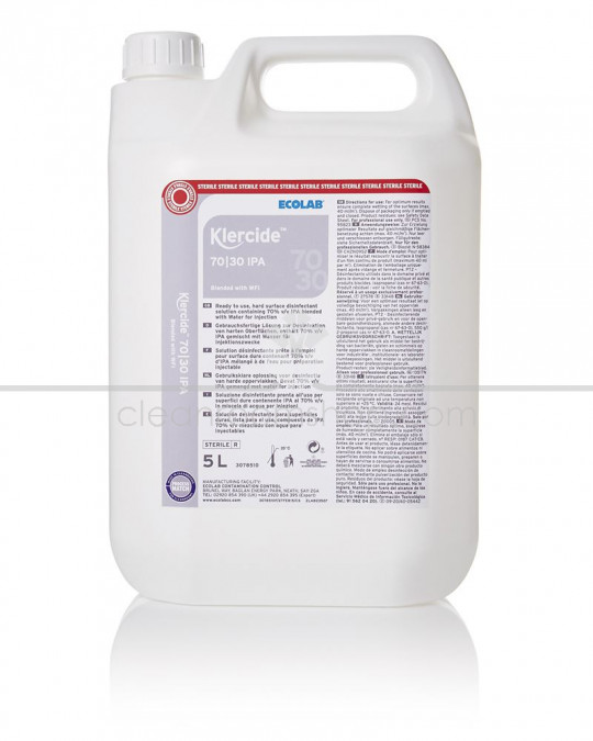 Klercide 70/30 WFI IPA Sterile Capped 4 x 5L