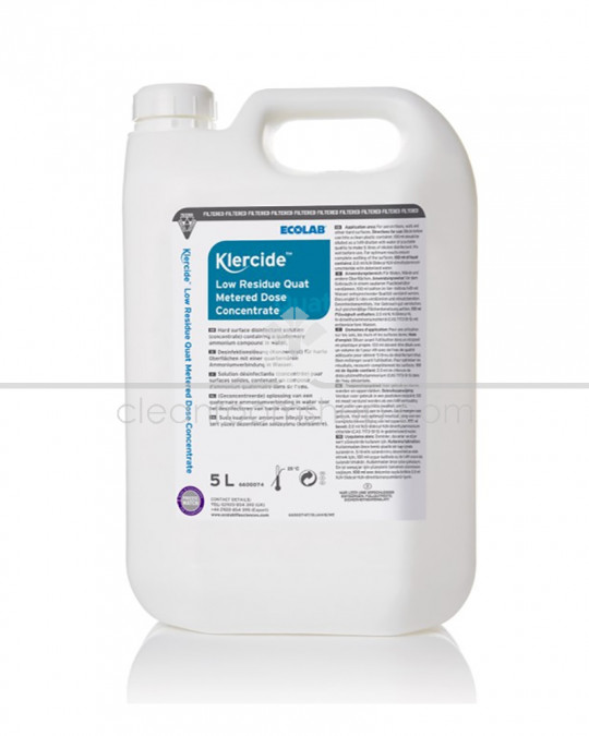 Klercide Low Residue Quat Metered Dose Concentrate 2x5 litre
