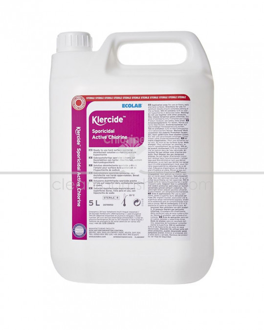 Klercide Sporicidal Active Chlorine Sterile Capped 5L