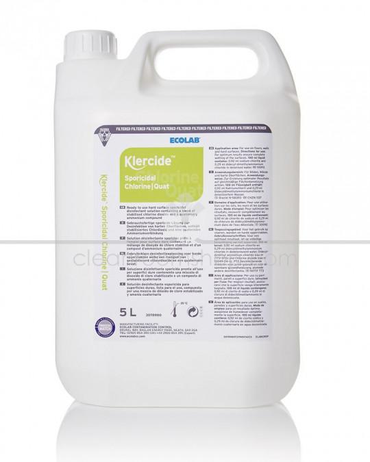 Klercide Sporicidal Chlorine/Quat Filtered Capped 5L DISC