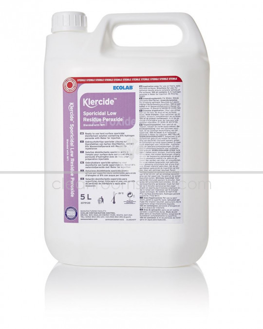 Klercide Sporicidal Low Residue Peroxide WFI Capped 5L