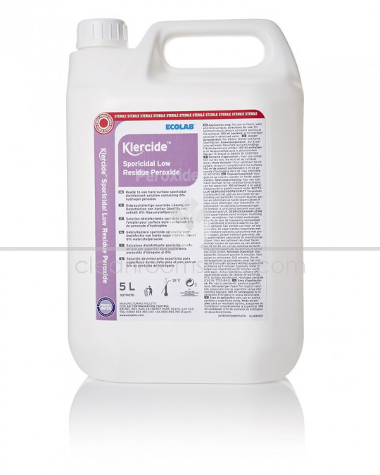 Klercide Sporicidal Low Residue Peroxide Sterile Capped 4x5L