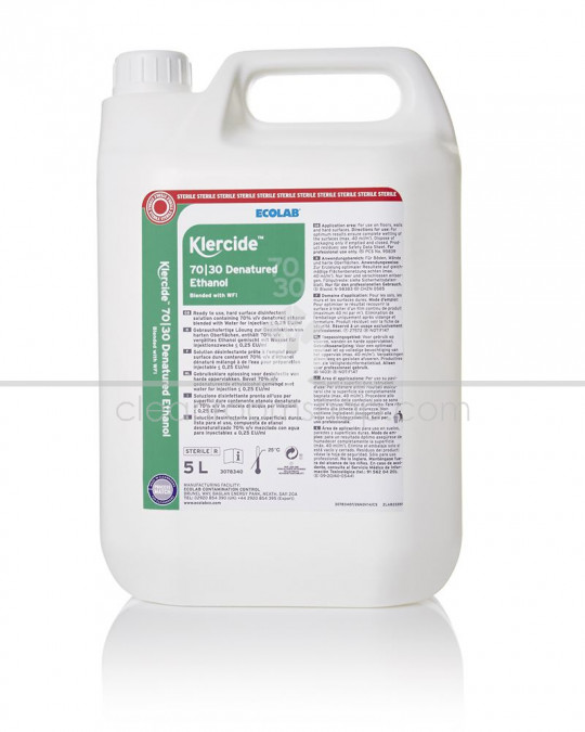 Klercide 70/30 Denatured Ethanol WFI Sterile Capped 5L