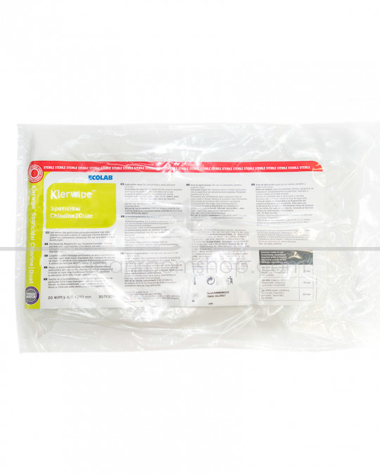 Klerwipe Sporicidal Chlorine / Quat Mop Wipe