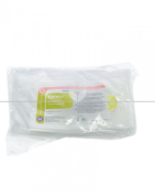 Klerwipe Sporicidal Chlorine/Quat Sterile Wipe - 20 Pouches