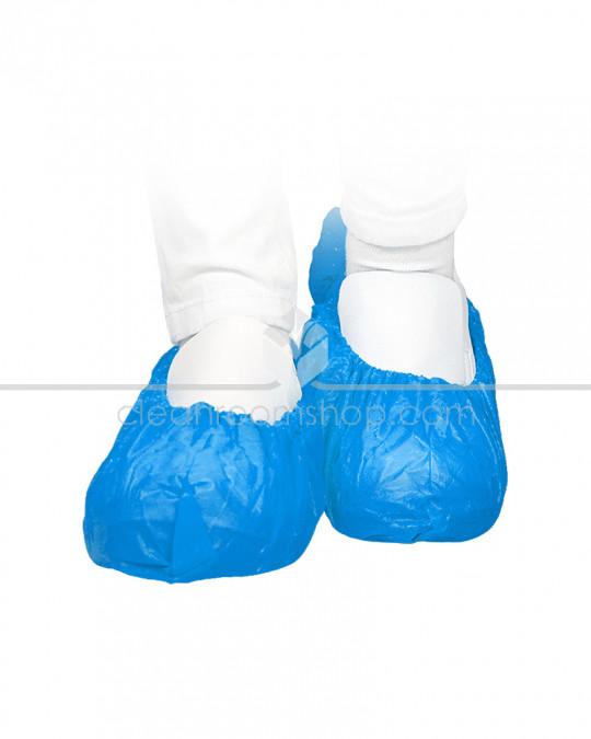 Disposable PE Overshoe 40 Micron Blue - Case of 2000