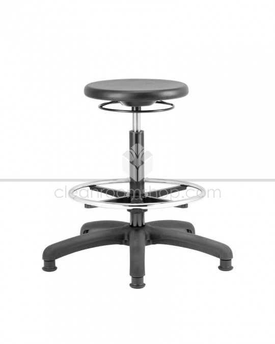PU High Stool with Footring