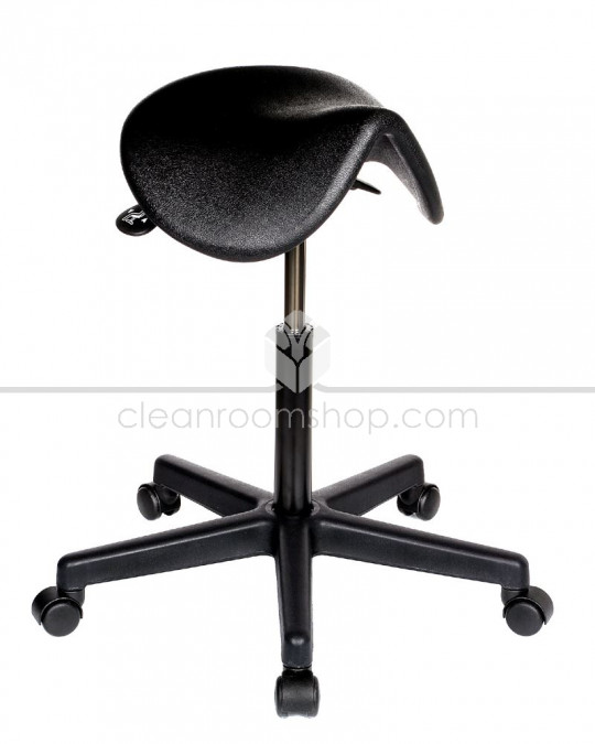 PU Saddle Seat Stool - Black