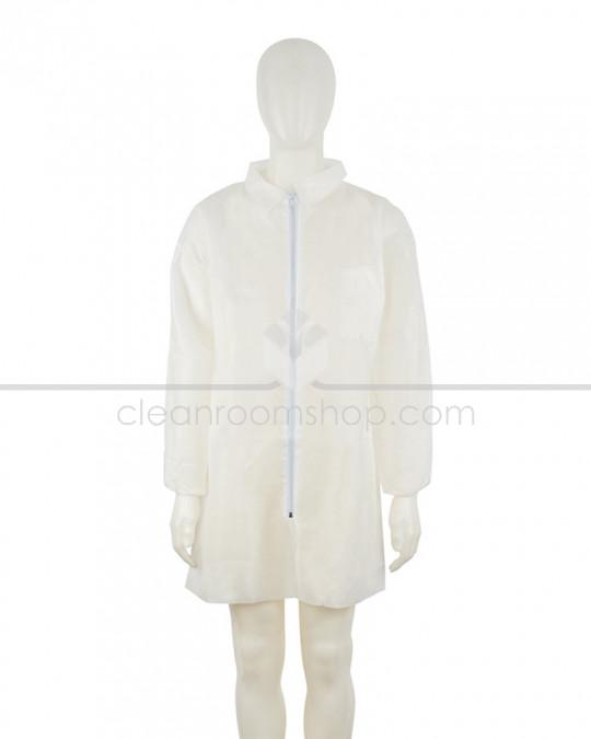 3M Disposable Polypropylene Lab Coat White