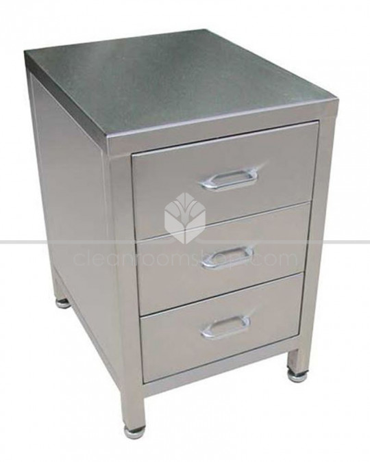 Stainless Steel 3 Drawer Unit