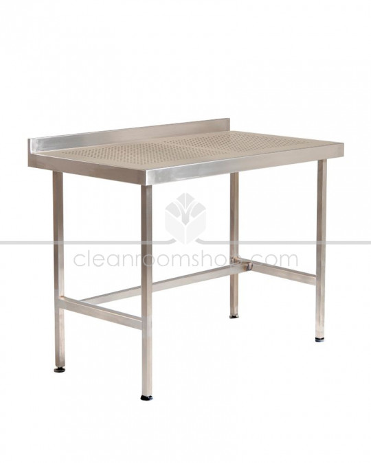 Stainless Steel Perforated Table with Upstand (No Under Shelf)