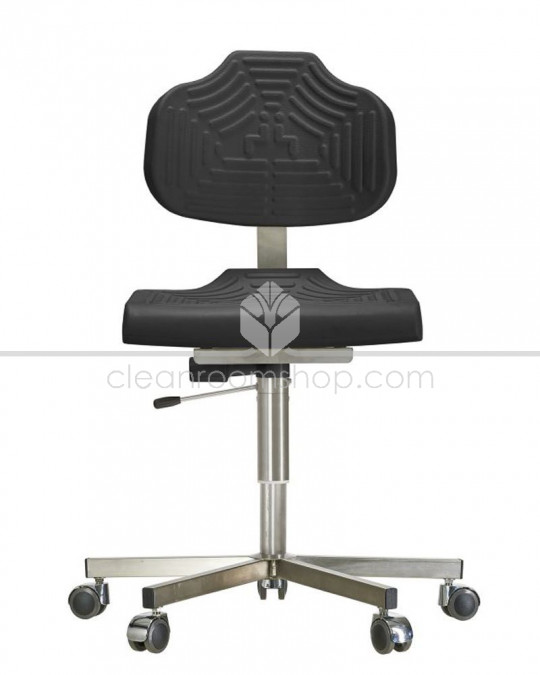 Stainless Steel PU Low Chair on Castors