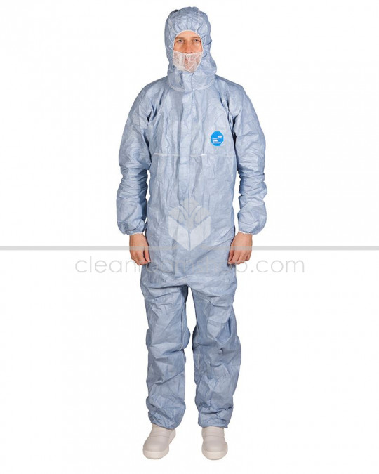 DuPont™ Tyvek® Classic Xpert Blue Hooded Coverall