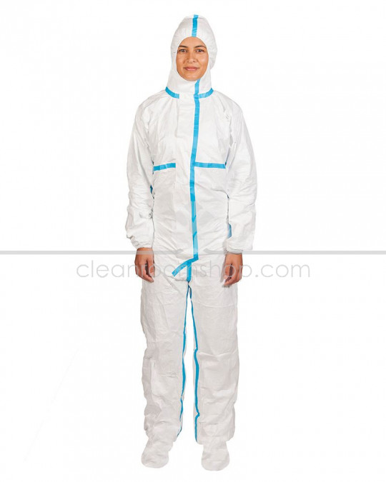 DuPont Tyvek® 600 Plus Hooded Coverall with Socks
