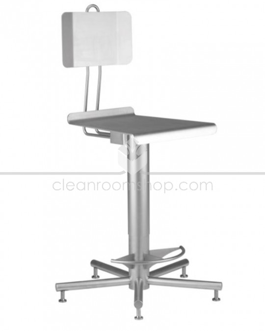 Stainless Steel High Chair with Back & Foot Rests