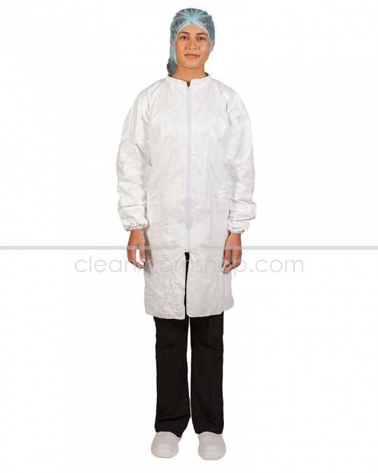Tyvek® Lab Coat (Elastic Cuff) - Case of 25