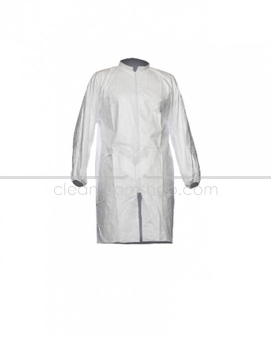 DuPont™ Tyvek® 500 Lab Coat no Pockets (Elastic Cuff) - Case of 50