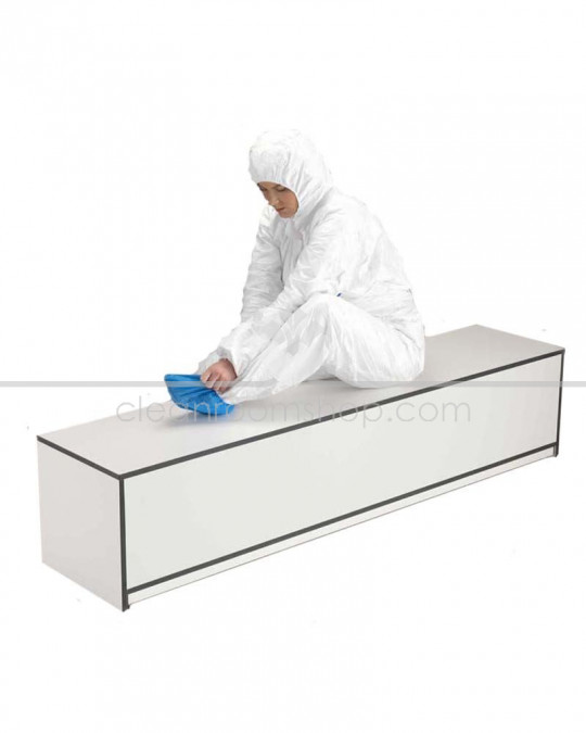 Trespa Toplab Base Step Over Bench - Fully Enclosed