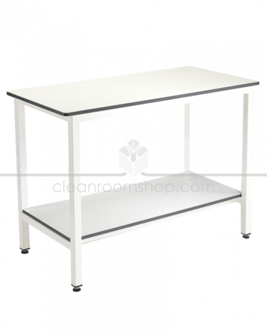 Trespa Table with Undershelf (No Upstand).