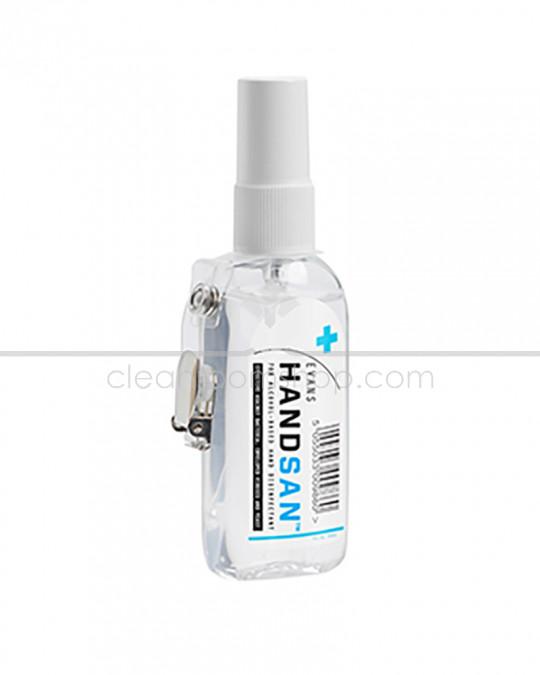 Evans Handsan Hand Sanitiser 75ml bottle with clip