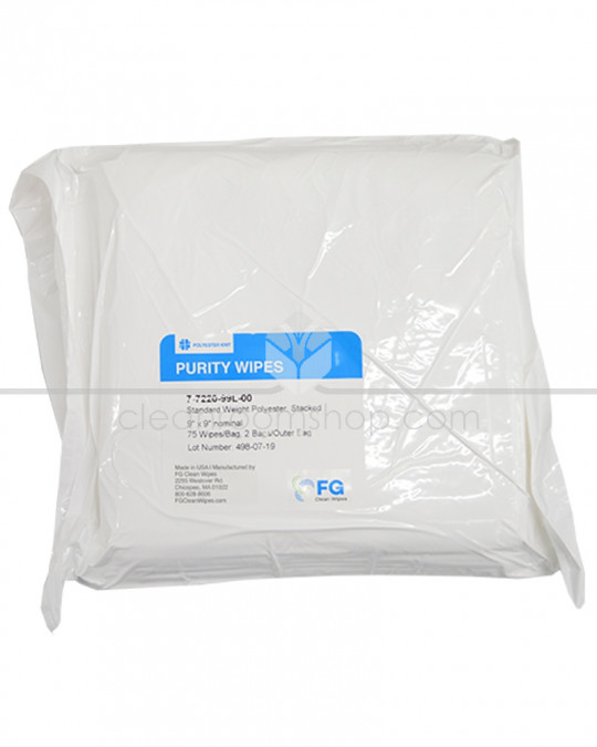 100% Polyester NS Purity Interlocked Wipe - 9""