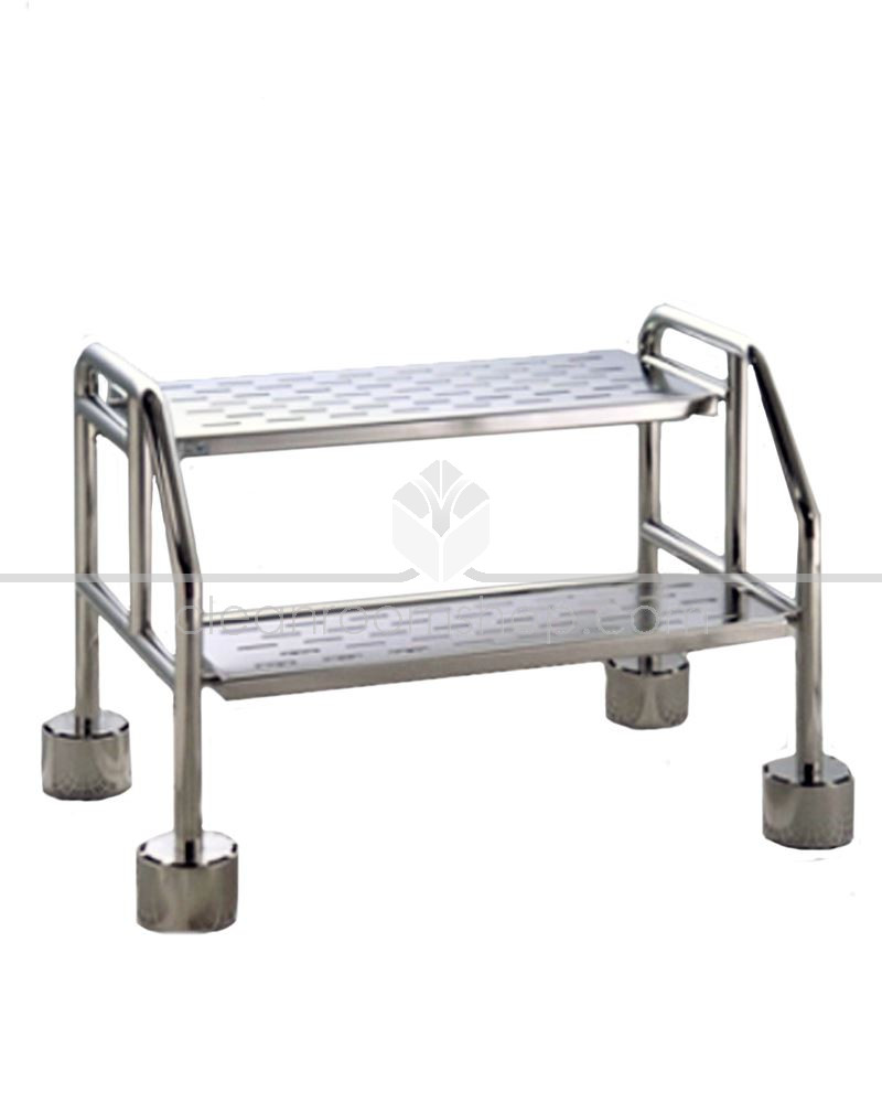 Electropolished Stainless Steel Cleanroom 2 Step Ladder