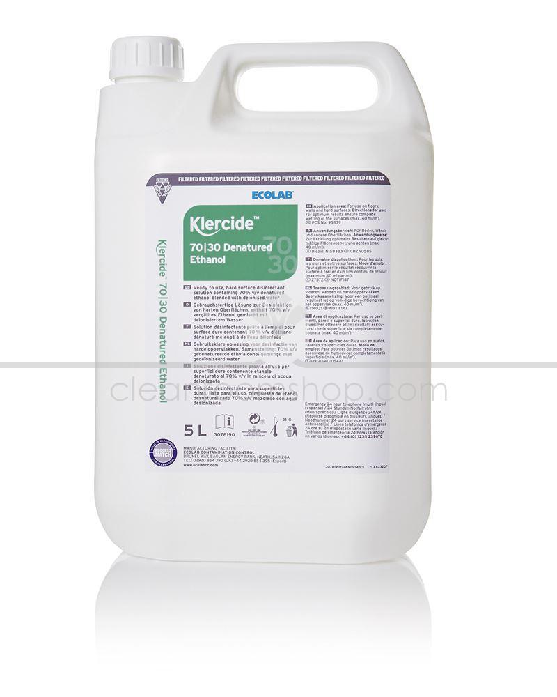 Ecolab 3078190 Klercide 70/30 Denatured Ethanol Capped 5 litre