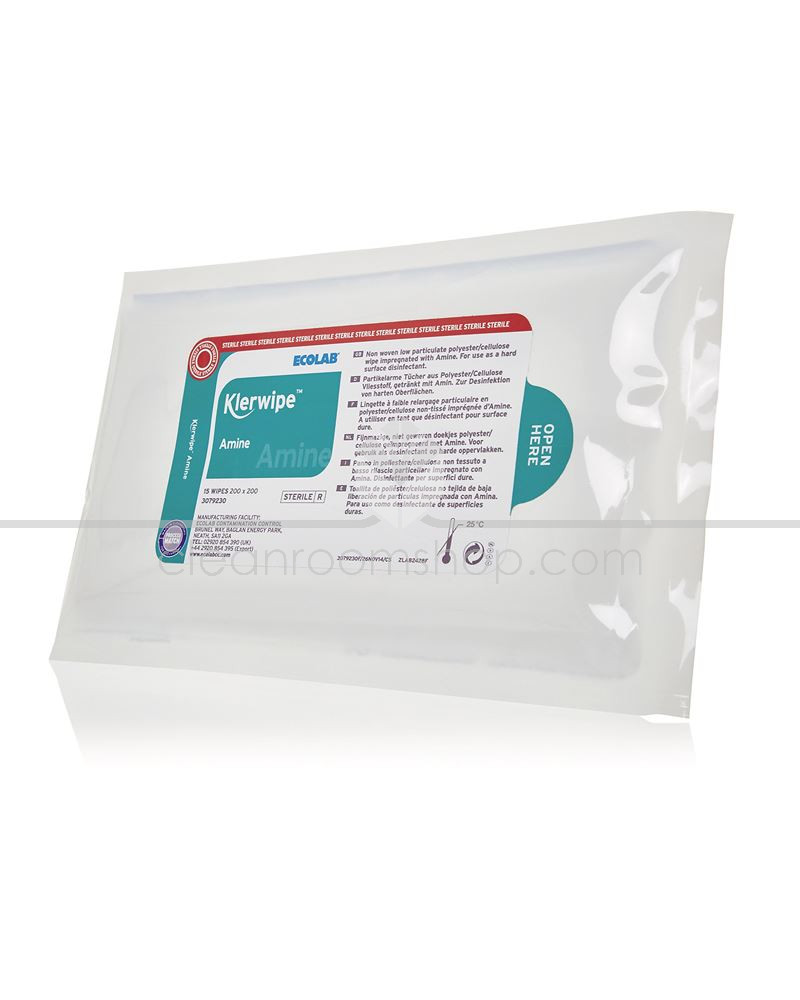 Ecolab 3079230 Klerwipe-CR Sterile Amine Low Particulate Pouch Wipe