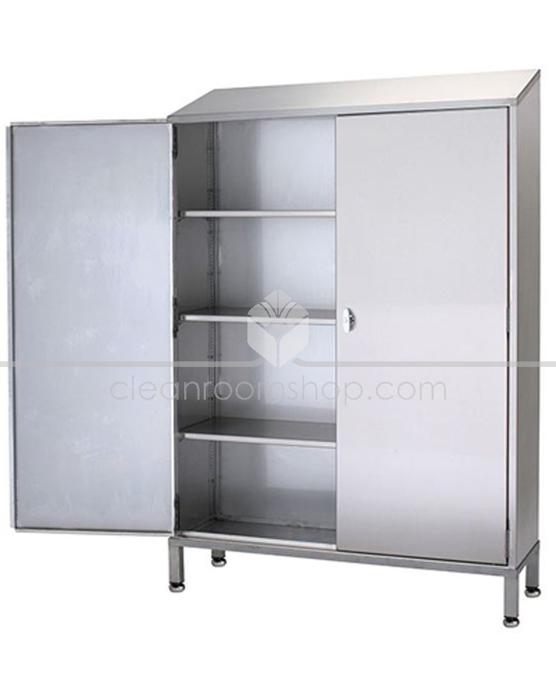 Stainless steel single door storage cupboard 3 shelves for 1 door cupboard