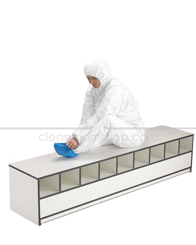 Trespa Toplab Base Step Over Bench   Open 50%