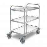 Stainless Steel 3 Tier Transport Trolley